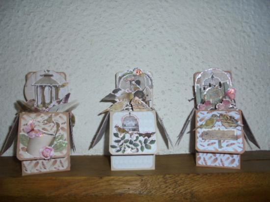 3 cartes Oiseaux